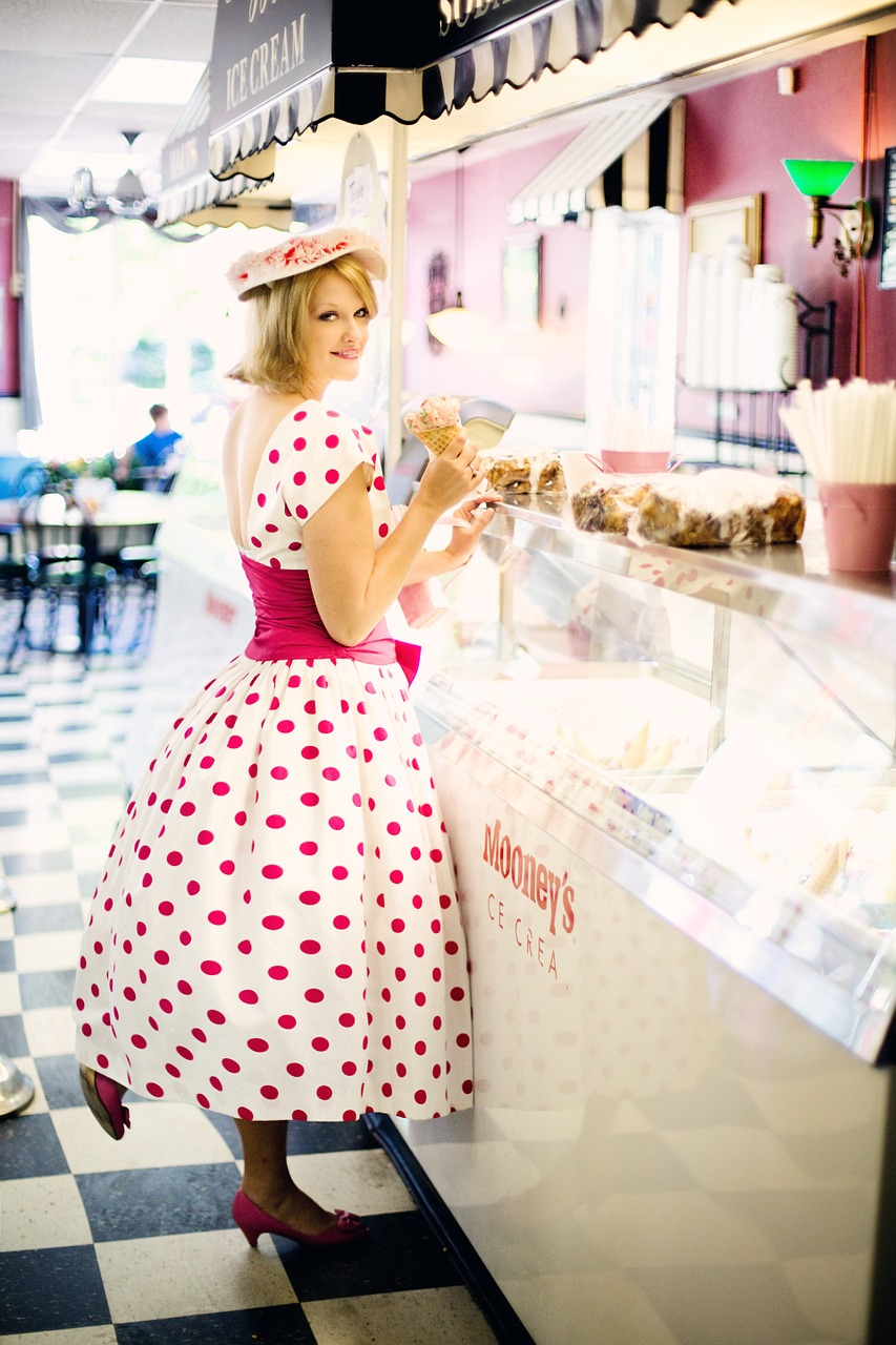 robe vintage => look rétro pour les femmes