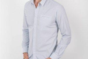 chemise bleu manche longue été