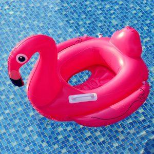 bouée flamant rose enfant