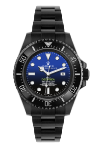 rolex deepsea blue black